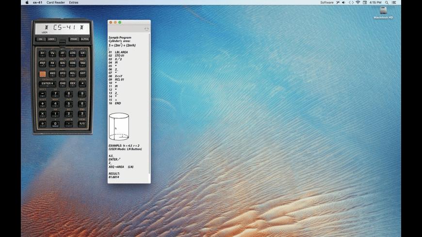 cs-41 RPN calculator for Mac - review, screenshots