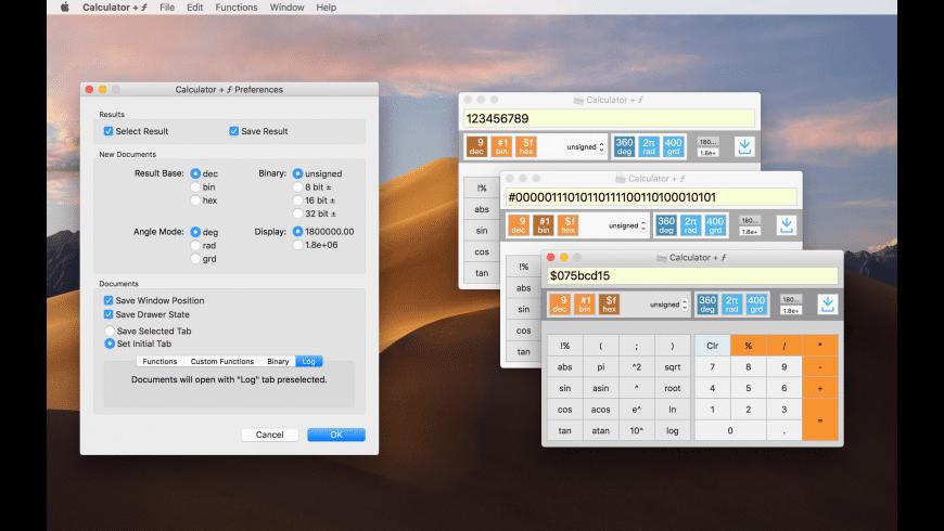 Calculator + ƒ for Mac - review, screenshots