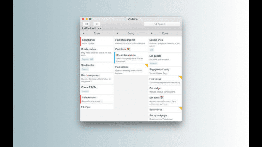 Kanbanier for Mac - review, screenshots