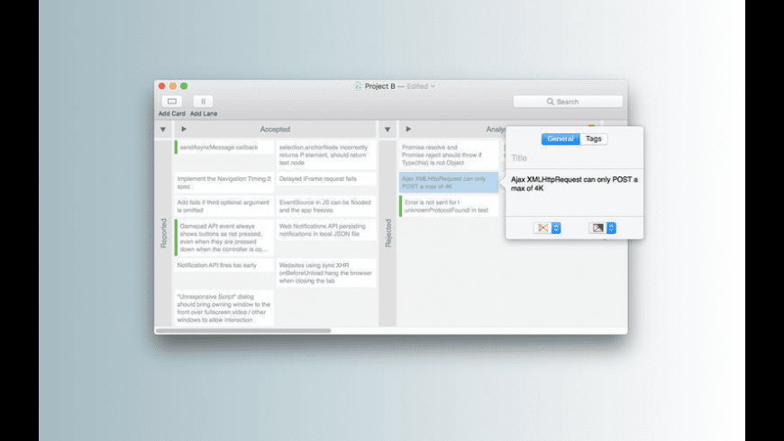 Kanbanier for Mac - review, screenshots