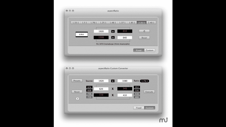 aspectRatio for Mac - review, screenshots