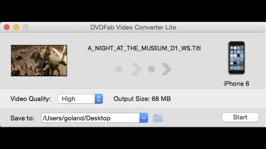 DVDFab Video Converter Lite for Mac - review, screenshots