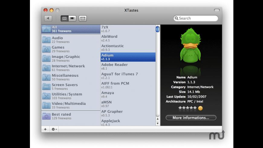XTastes for Mac - review, screenshots