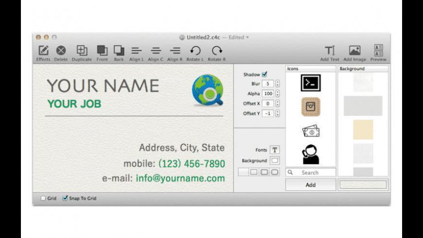 Card4Call for Mac - review, screenshots