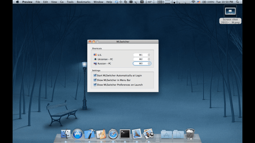 MLSwitcher for Mac - review, screenshots