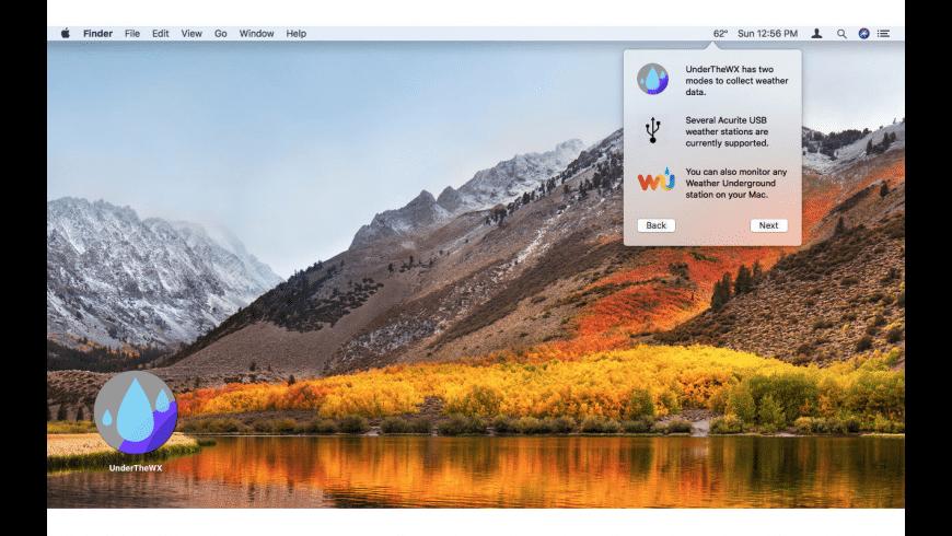 UnderTheWX for Mac - review, screenshots