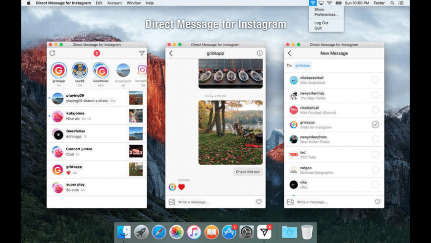 Direct Message for Instagram for Mac - review, screenshots