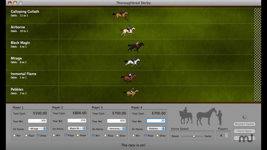 Thoroughbred Derby for Mac - review, screenshots