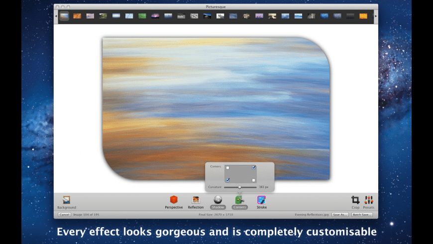 Picturesque for Mac - review, screenshots