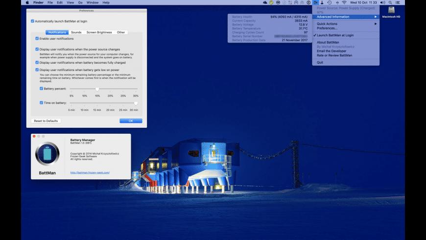 BattMan for Mac - review, screenshots