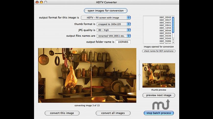 HDTV Converter for Mac - review, screenshots