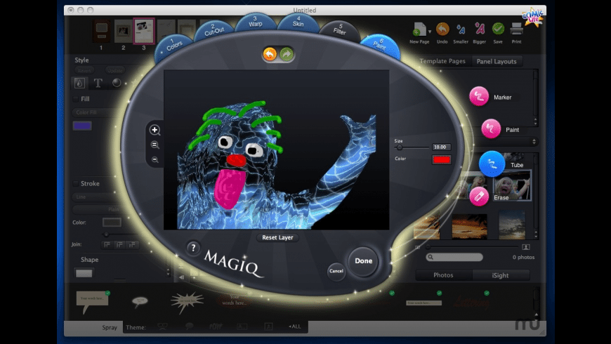 Comic Life Magiq for Mac - review, screenshots