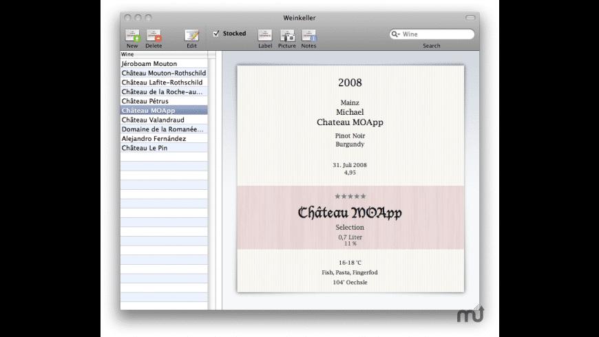 Weinkeller for Mac - review, screenshots