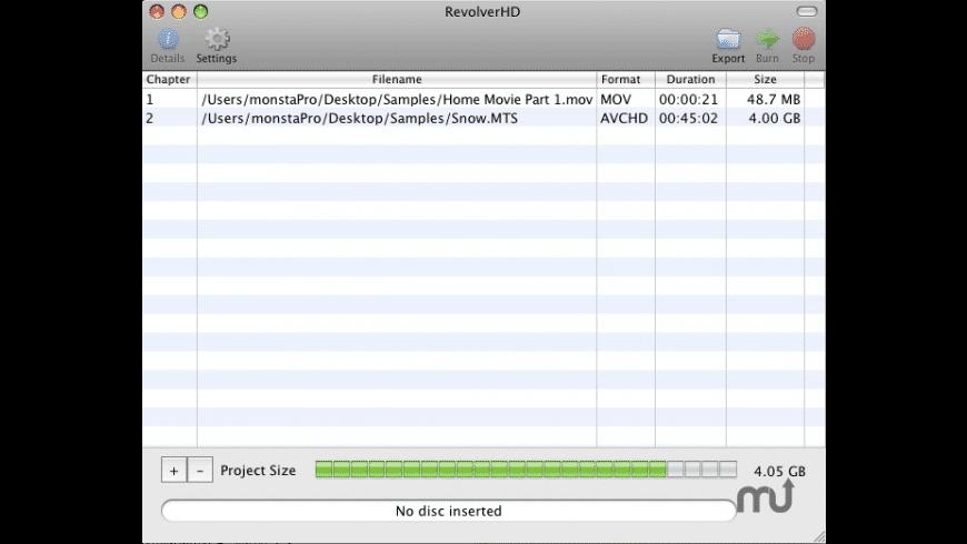 RevolverHD for Mac - review, screenshots