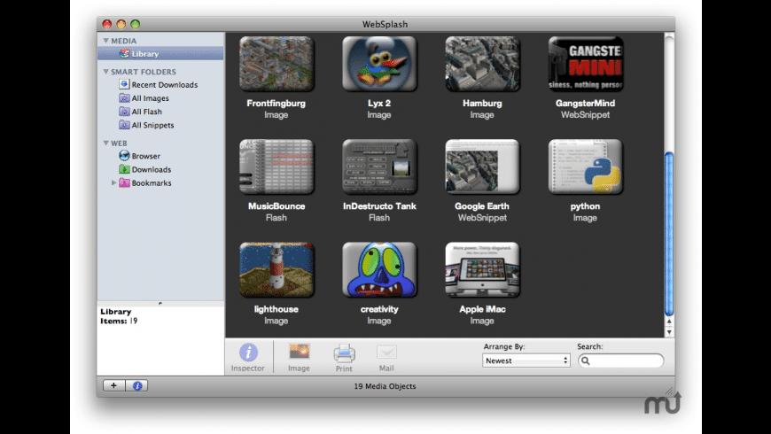 WebSplash for Mac - review, screenshots