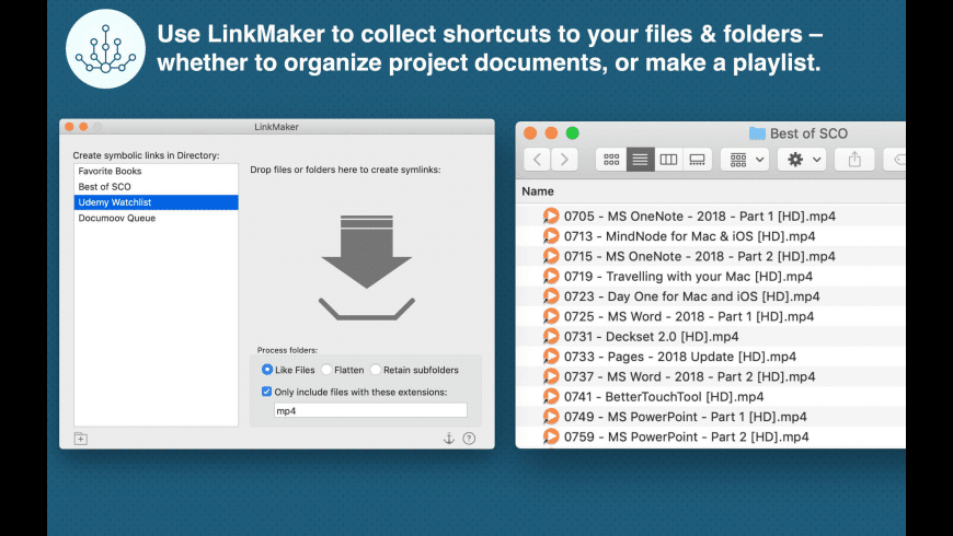 LinkMaker for Mac - review, screenshots