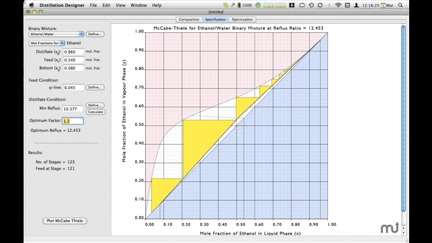 Distillation Designer for Mac - review, screenshots