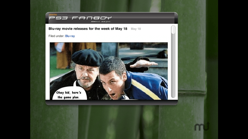 PS3 Fanboy widget for Mac - review, screenshots