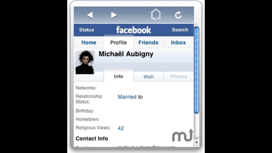 FacebookWidget for Mac - review, screenshots