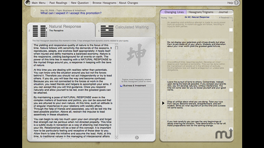 Changes I Ching Software for Mac - review, screenshots
