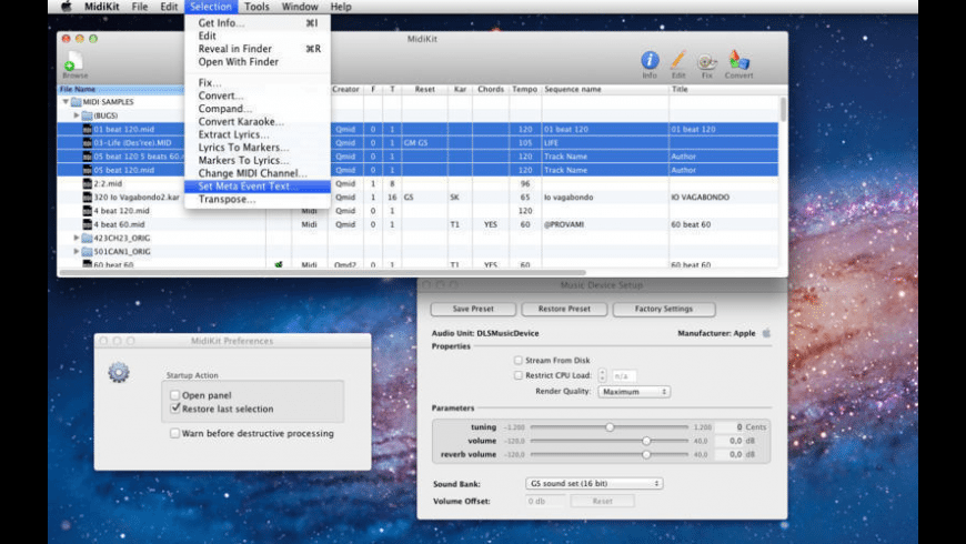 MidiKit for Mac - review, screenshots