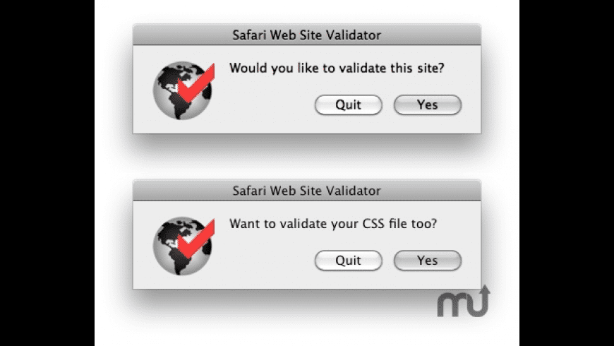 Safari Web Site Validator for Mac - review, screenshots