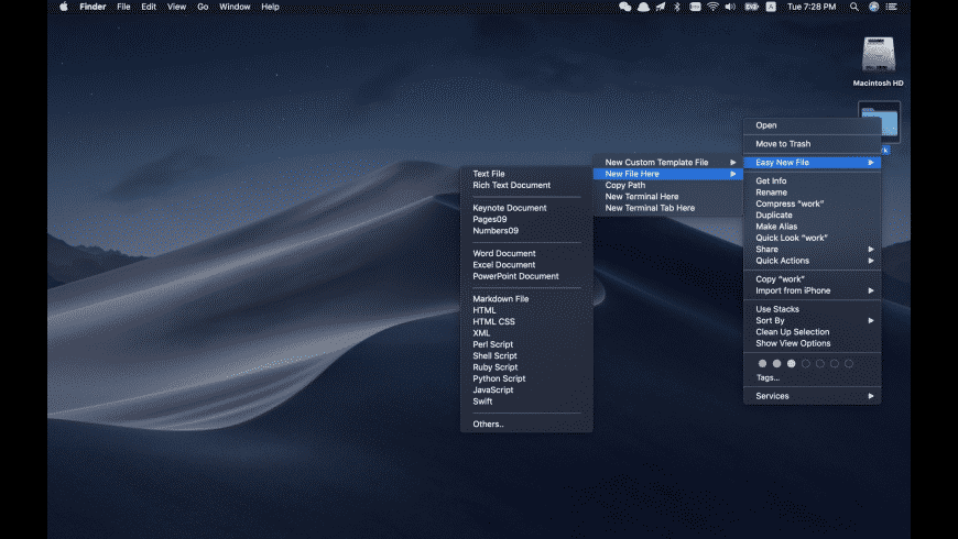 Easy New File for Mac - review, screenshots