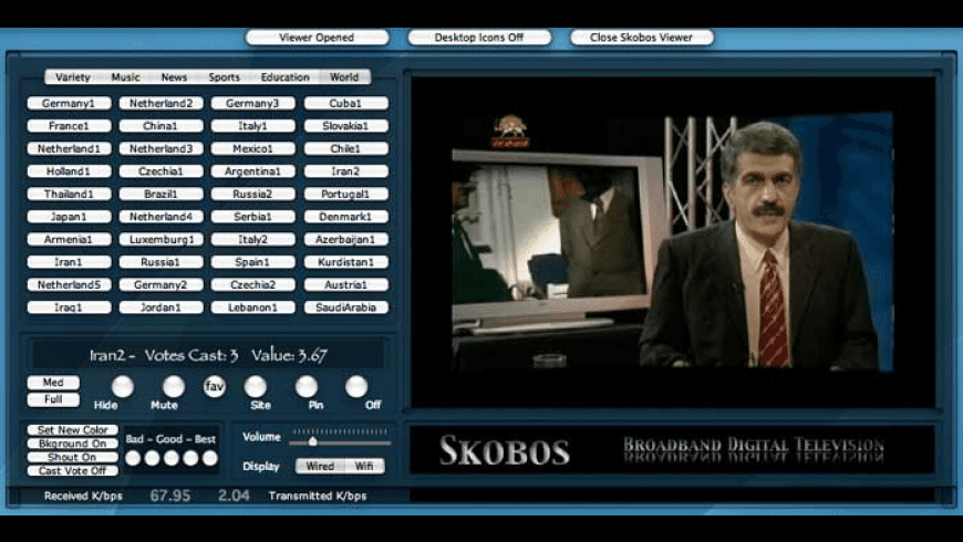 Skobos Personal Television for Mac - review, screenshots