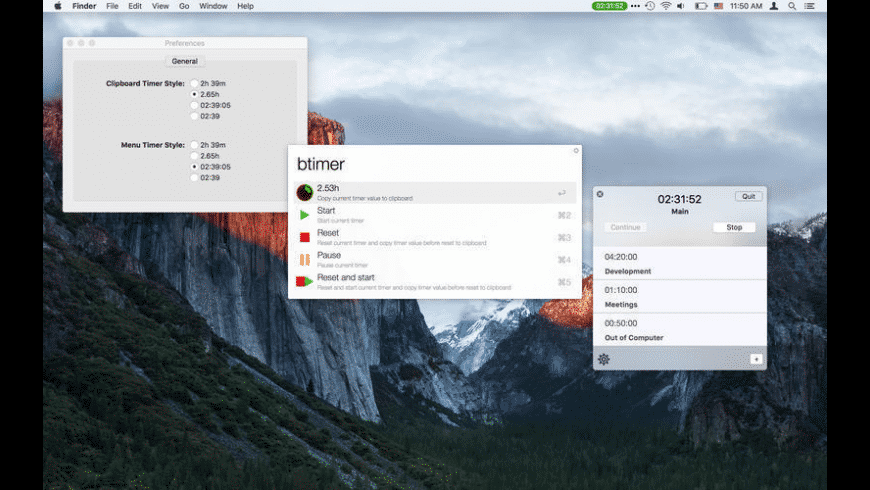 Billing Timer for Mac - review, screenshots