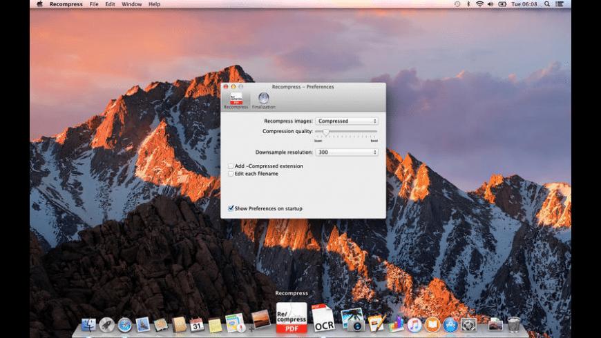 Recompress for Mac - review, screenshots