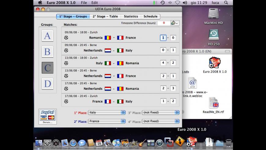 Euro 2008 for Mac - review, screenshots