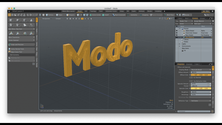 Modo for Mac - review, screenshots