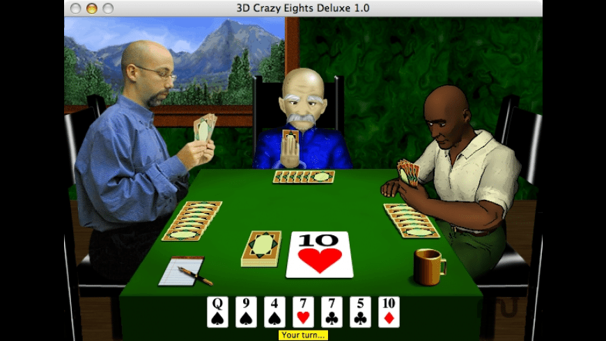 3D Crazy Eights for Mac - review, screenshots