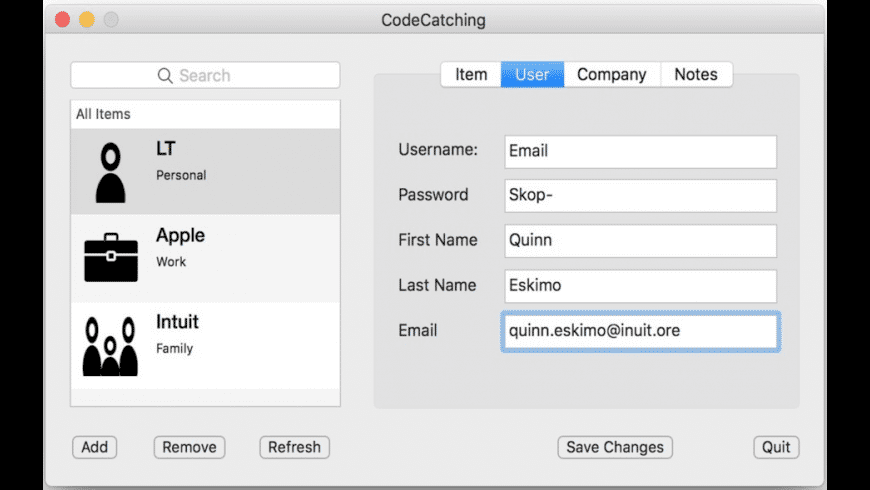 CodeCatching for Mac - review, screenshots