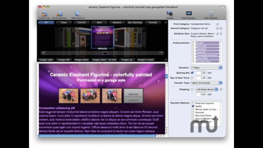 GarageSale Basic for Mac - review, screenshots