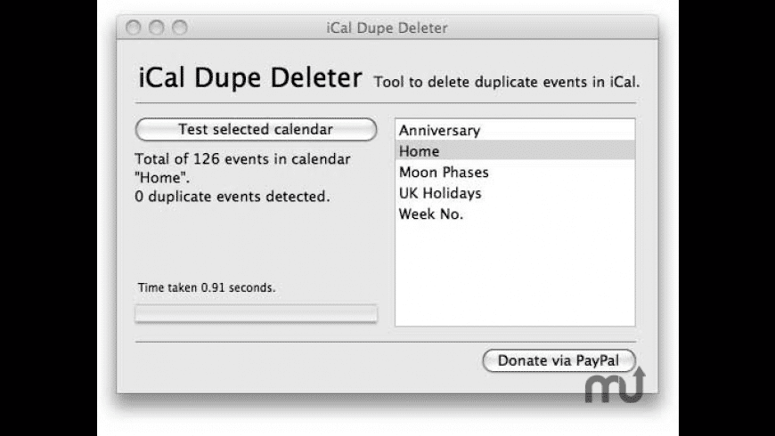 iCal Dupe Deleter for Mac - review, screenshots