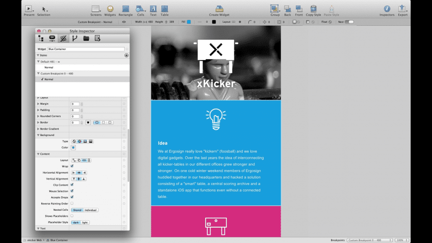 Antetype for Mac - review, screenshots