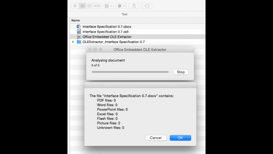 Office Embedded OLE Extractor for Mac - review, screenshots