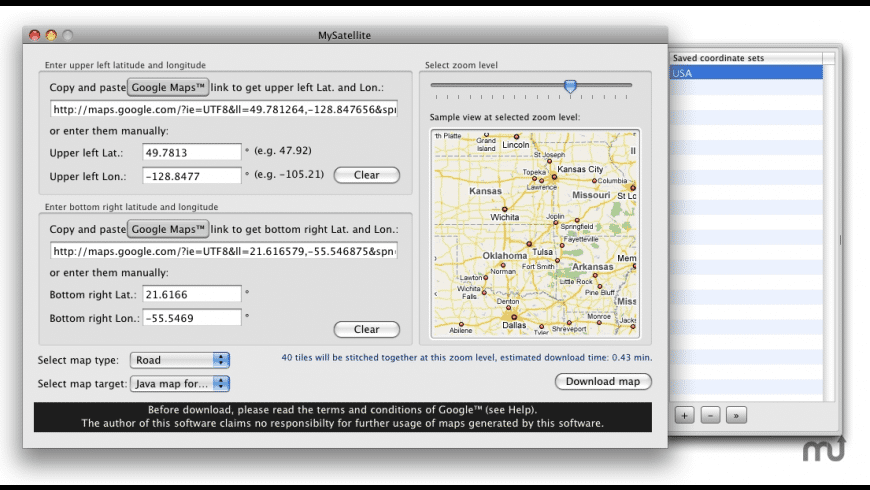 MySatellite for Mac - review, screenshots