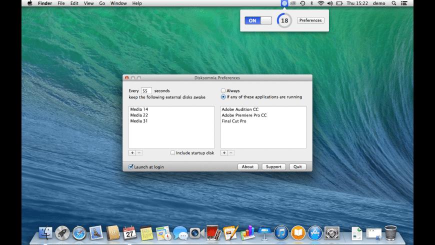 Disksomnia for Mac - review, screenshots