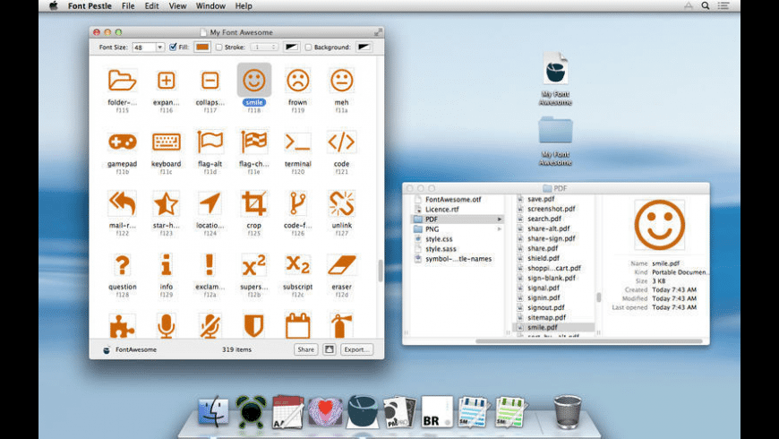 Font Pestle for Mac - review, screenshots