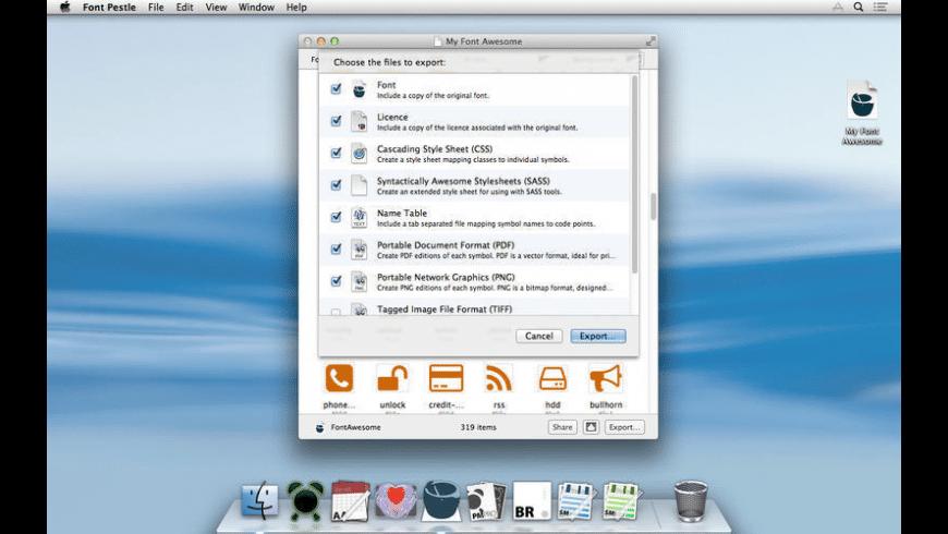 Font Pestle for Mac - review, screenshots