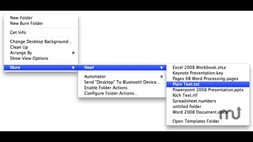 New! Contextual Menu Item for Mac - review, screenshots