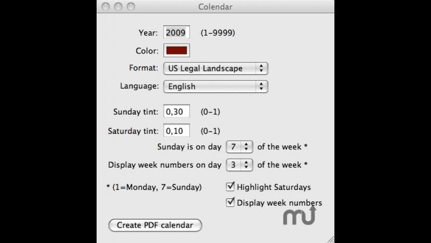 Colendar for Mac - review, screenshots