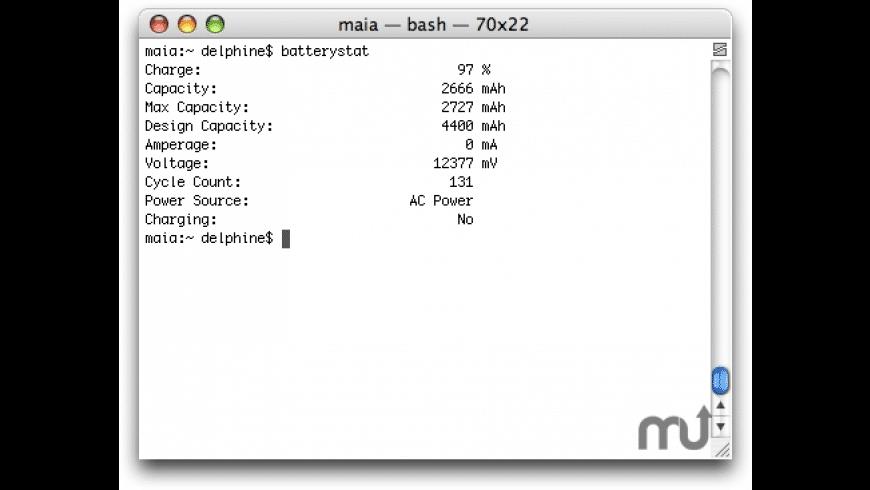 batterystat for Mac - review, screenshots