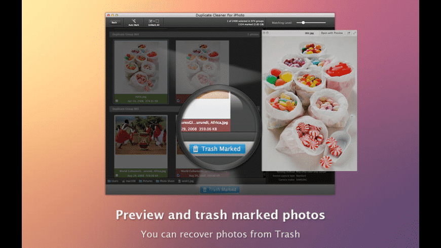 Duplicate Cleaner For iPhoto for Mac - review, screenshots