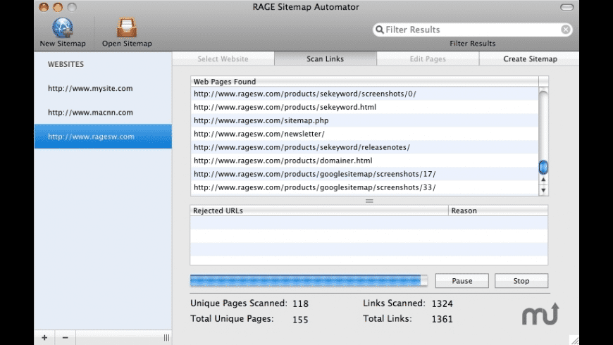 Sitemap Automator for Mac - review, screenshots