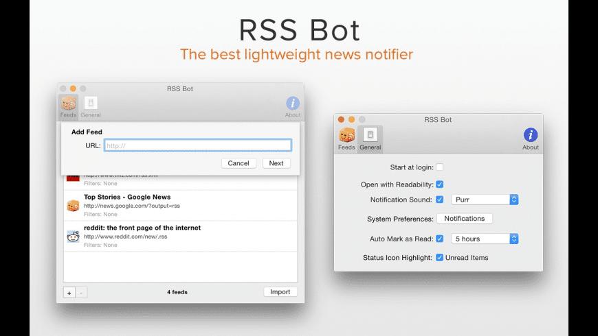 RSS Bot for Mac - review, screenshots