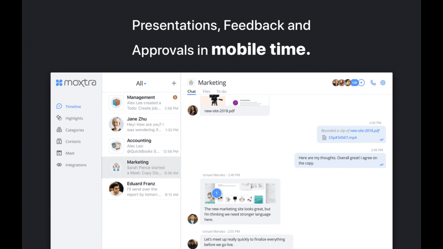 Moxtra: Business Collaboration for Mac - review, screenshots