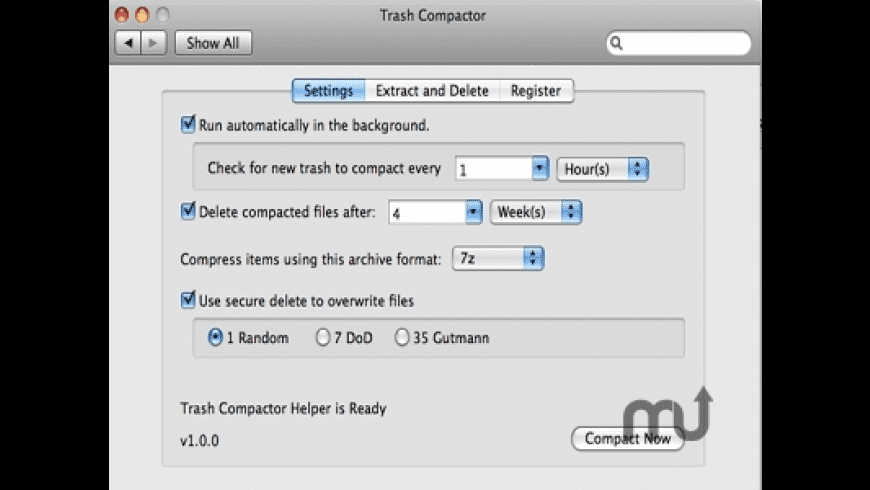 Trash Compactor for Mac - review, screenshots